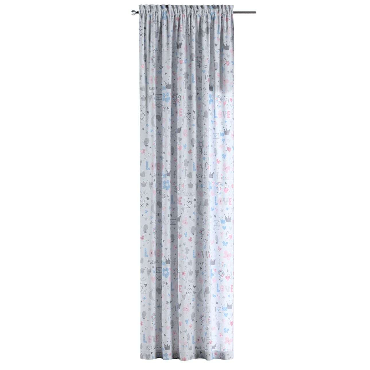 Slot and frill curtains in collection Little World, fabric: 141-27