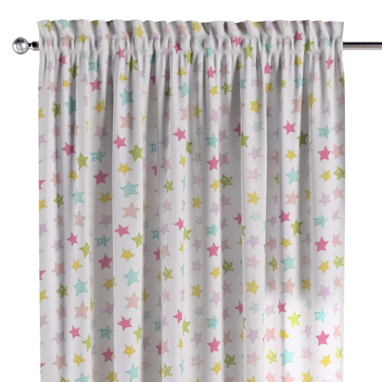 Slot and frill curtains in collection Little World, fabric: 141-52