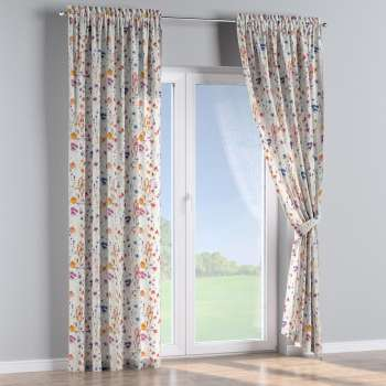 Slot and frill curtains in collection Flowers, fabric: 141-53