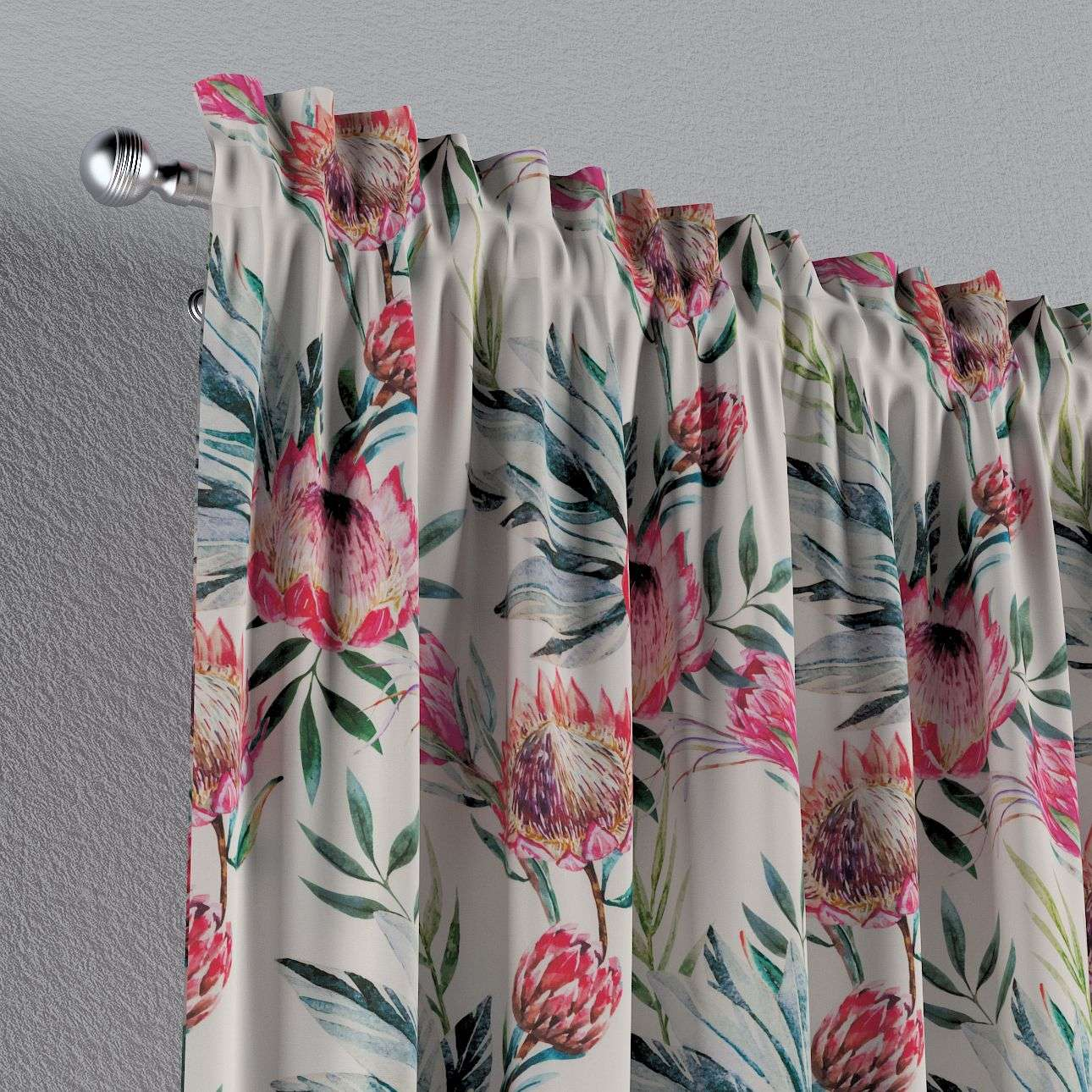 Slot and frill curtains 130 x 260 cm (51 x 102 inch) in collection New Art, fabric: 141-59