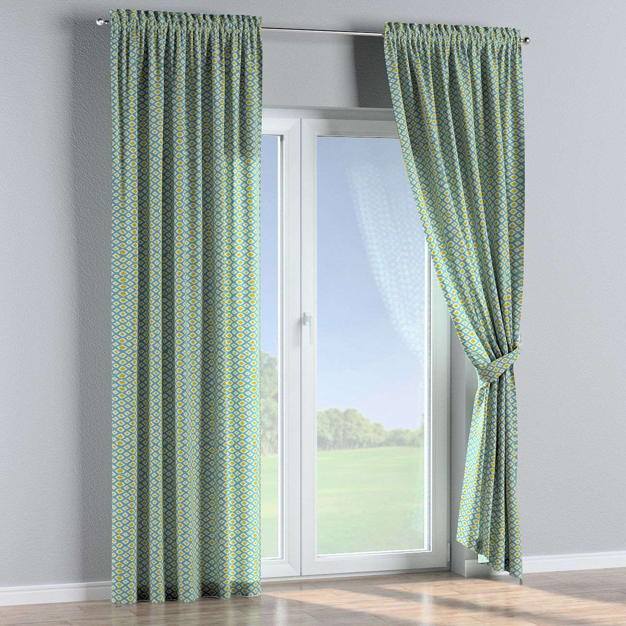 Slot and frill curtains in collection Comics/Geometrical, fabric: 141-20