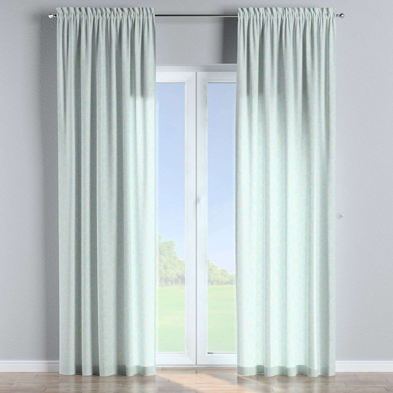Slot and frill curtains in collection Comics/Geometrical, fabric: 141-24