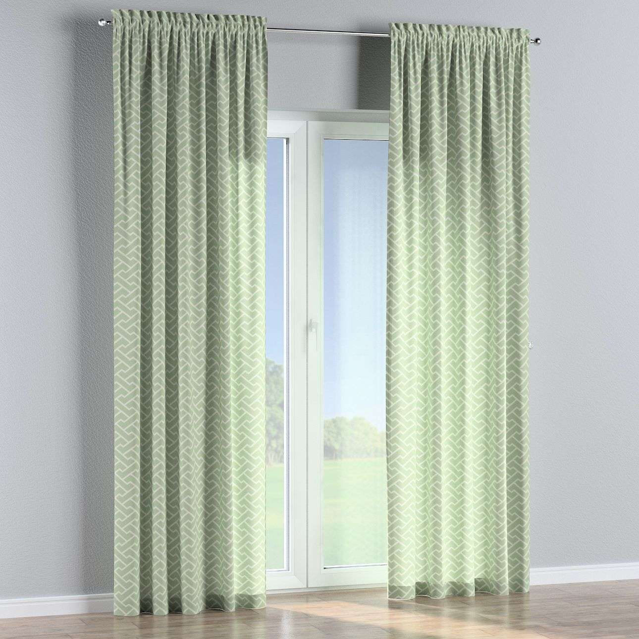 Slot and frill curtains in collection Comics/Geometrical, fabric: 141-63