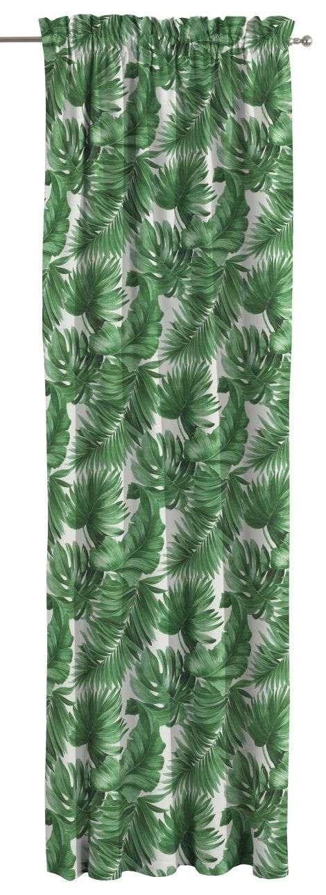 Zasłona na kanale z grzywką 1 szt. 1szt 130x260 cm w kolekcji Urban Jungle, tkanina: 141-71