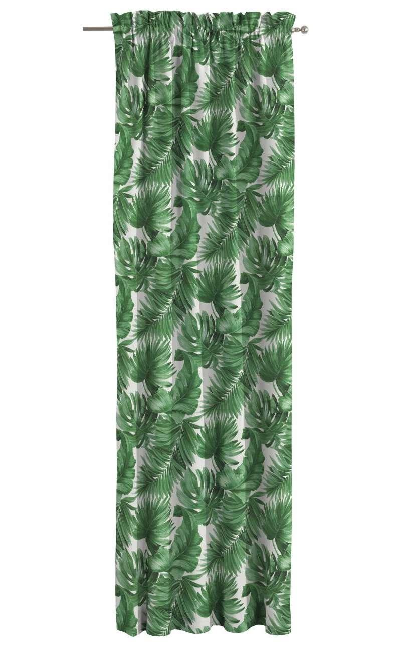 Záves s navliekacou riasiacou páskou V kolekcii Tropical Island, tkanina: 141-71