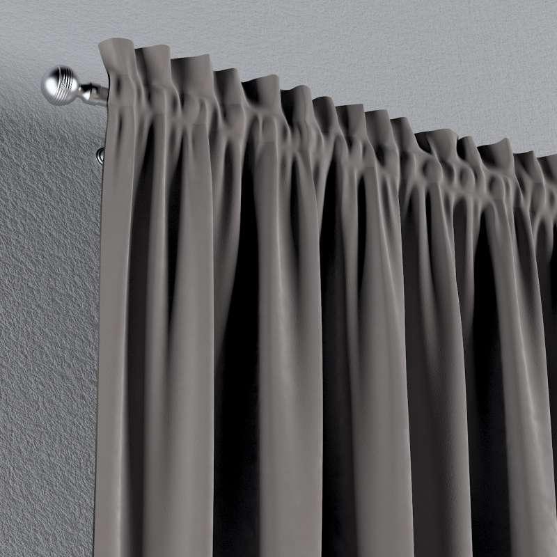 Zasłona na kanale z grzywką 1 szt. w kolekcji Velvet, tkanina: 704-11