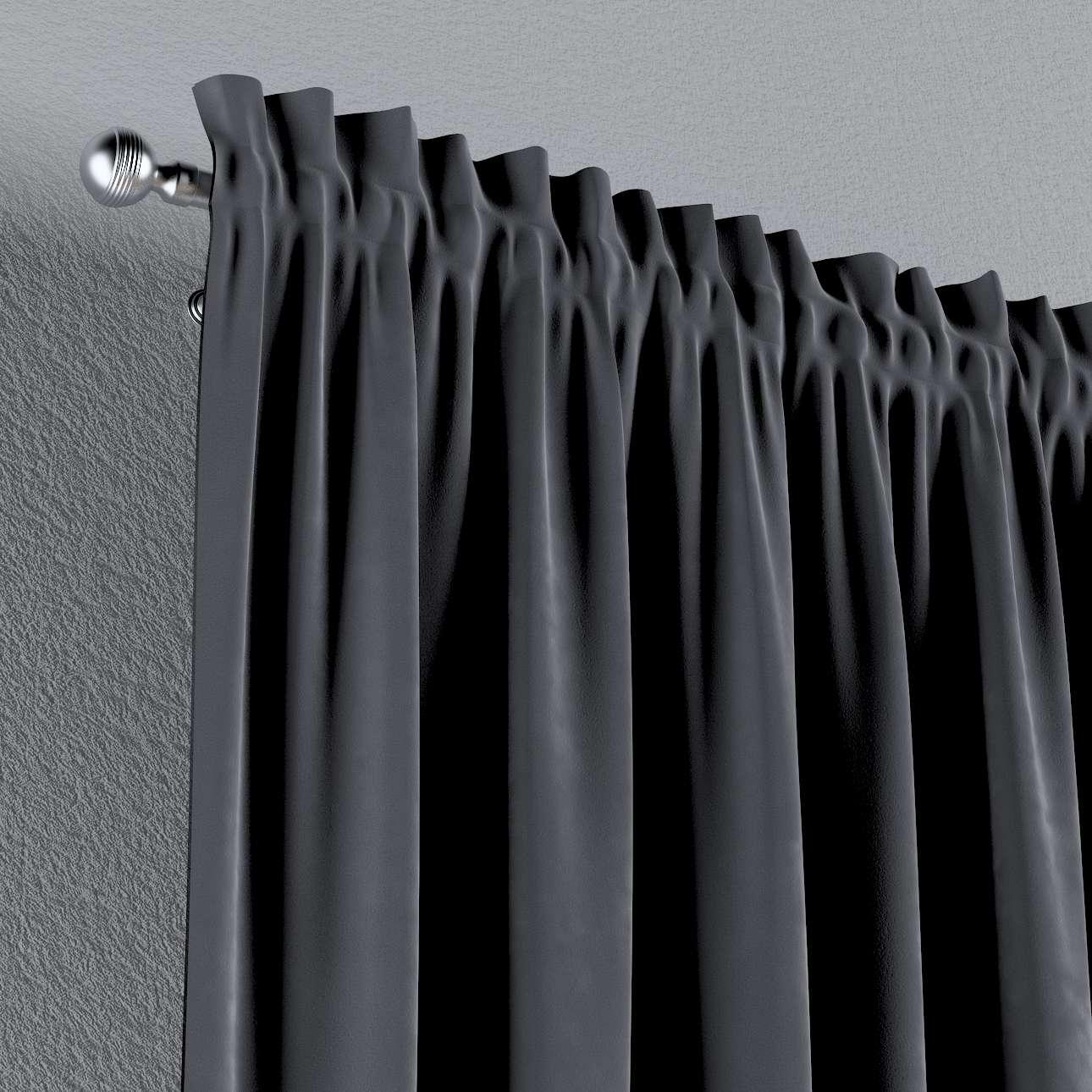Vorhang mit Tunnel und Köpfchen von der Kollektion Velvet, Stoff: 704-12