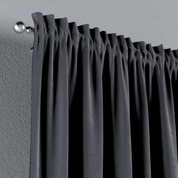 Zasłona na kanale z grzywką 1 szt. w kolekcji Velvet, tkanina: 704-12
