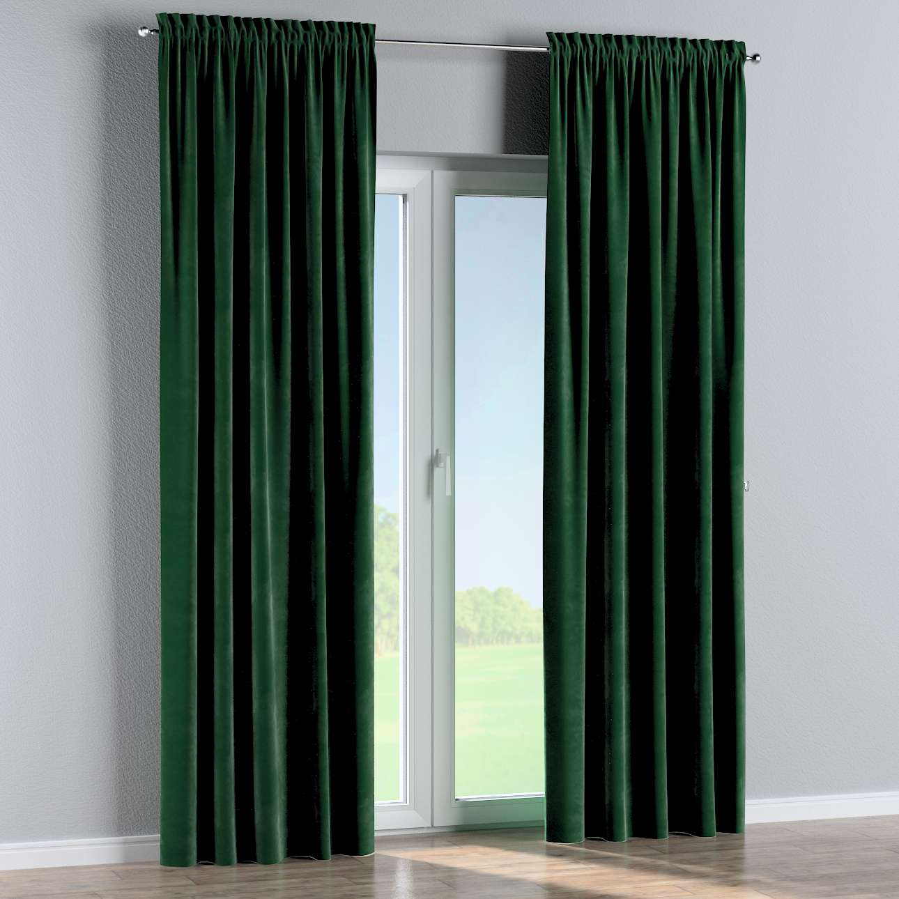 Slot and frill curtains 130 × 260 cm (51 × 102 inch) in collection Velvet, fabric: 704-13