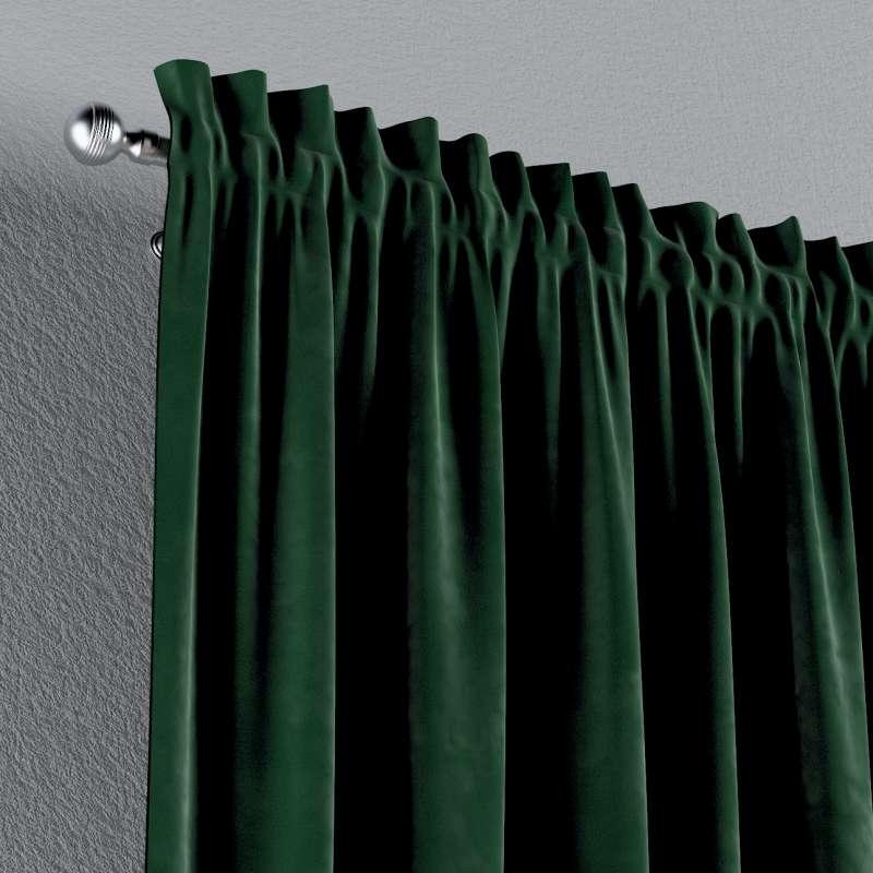 Zasłona na kanale z grzywką 1 szt. w kolekcji Velvet, tkanina: 704-13