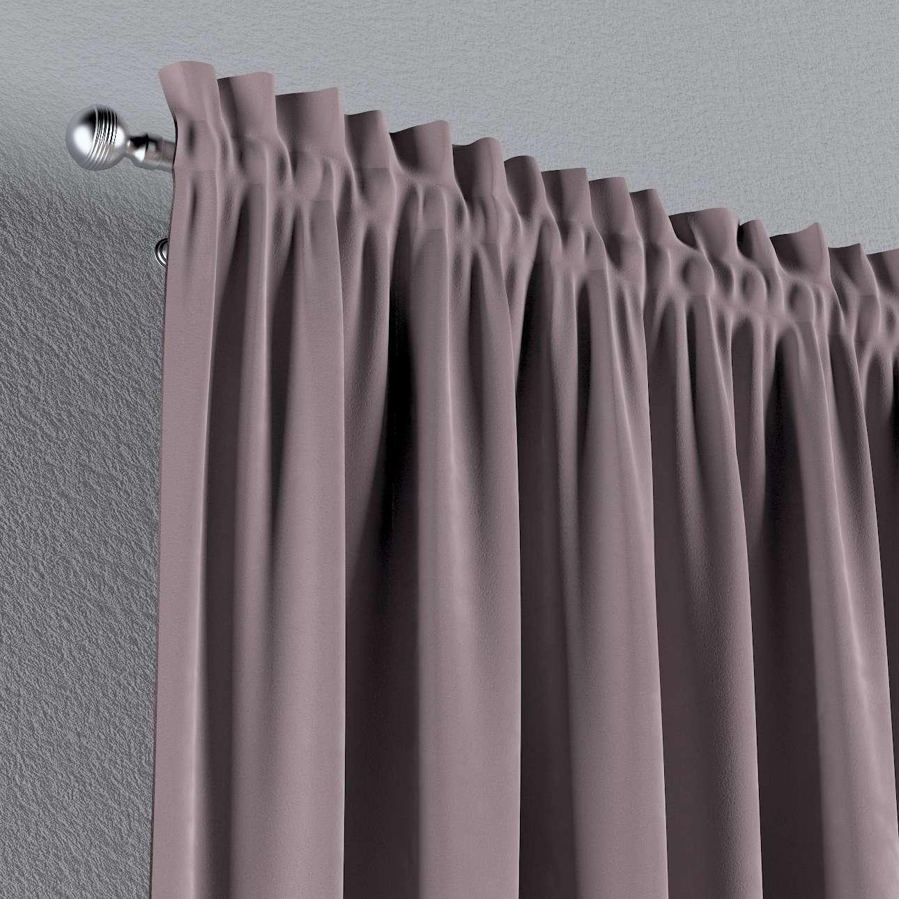 Vorhang mit Tunnel und Köpfchen von der Kollektion Velvet, Stoff: 704-14