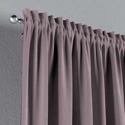 Zasłona na kanale z grzywką 1 szt. w kolekcji Velvet, tkanina: 704-14
