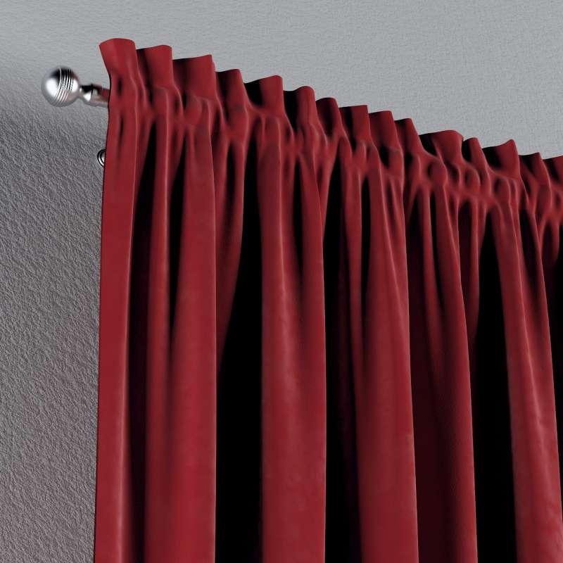 Zasłona na kanale z grzywką 1 szt. w kolekcji Velvet, tkanina: 704-15