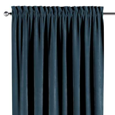 Slot and frill curtain 704-16 dark blue Collection Velvet