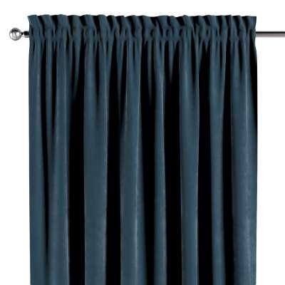 Závěs s tunýlkem a volánkem 704-16 staroněmecká modrá Kolekce Velvet