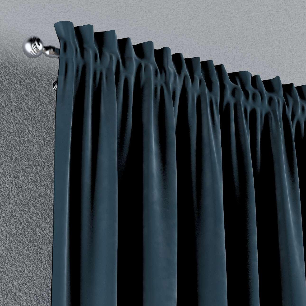 Vorhang mit Tunnel und Köpfchen von der Kollektion Velvet, Stoff: 704-16