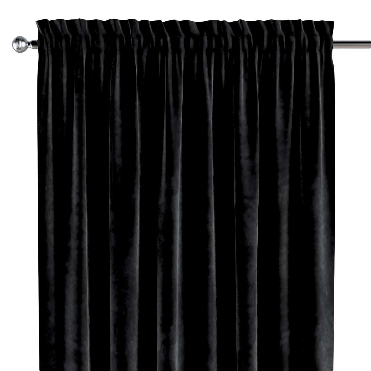 Slot and frill curtains in collection Velvet, fabric: 704-17