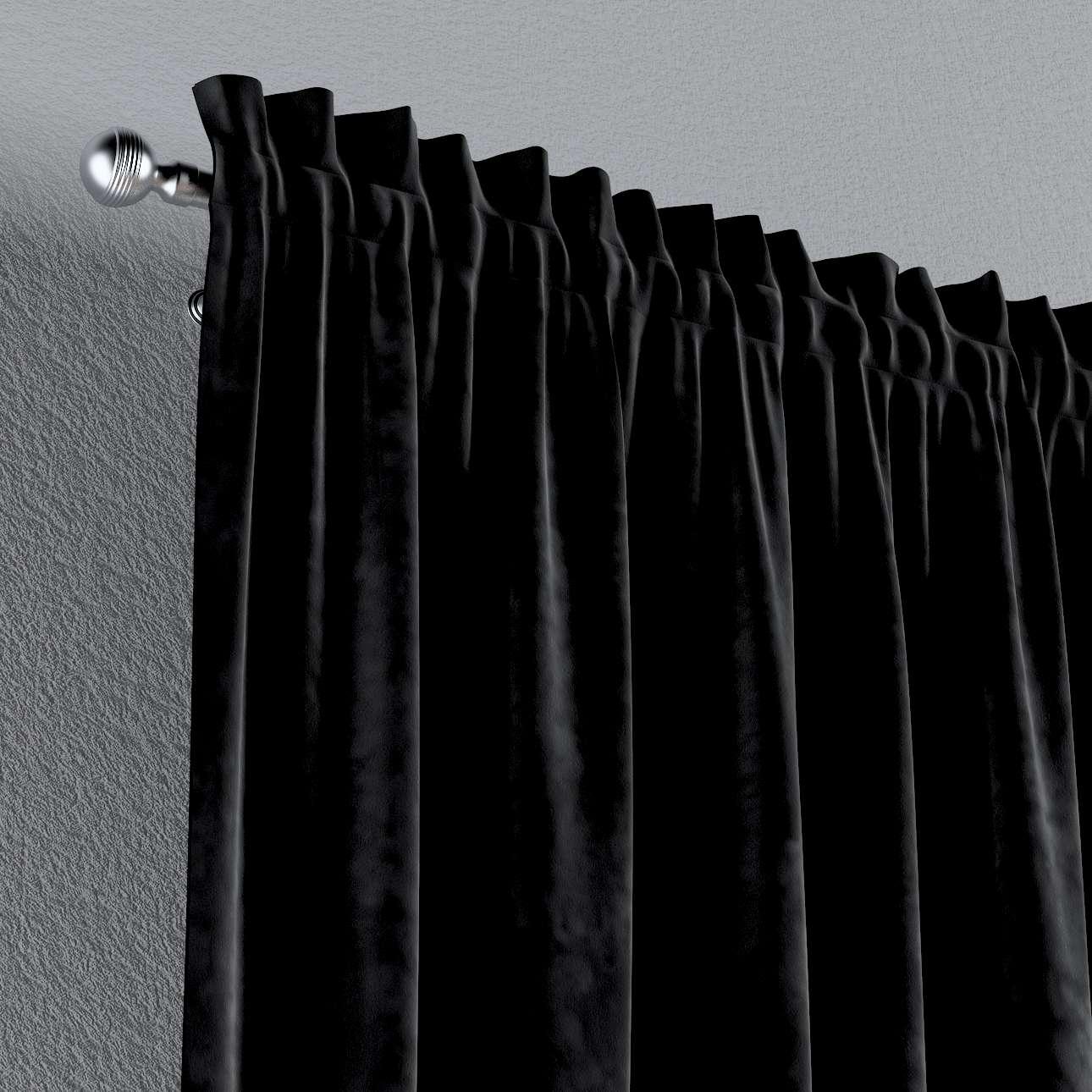 Zasłona na kanale z grzywką 1 szt. w kolekcji Velvet, tkanina: 704-17