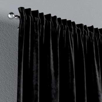 Vorhang mit Tunnel und Köpfchen von der Kollektion Velvet, Stoff: 704-17
