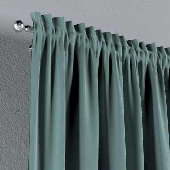 Vorhang mit Tunnel und Köpfchen von der Kollektion Velvet, Stoff: 704-18