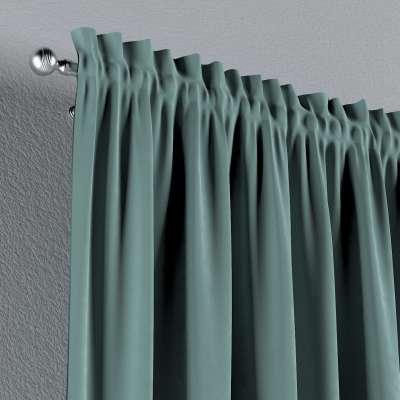 Zasłona na kanale z grzywką 1 szt. w kolekcji Velvet, tkanina: 704-18