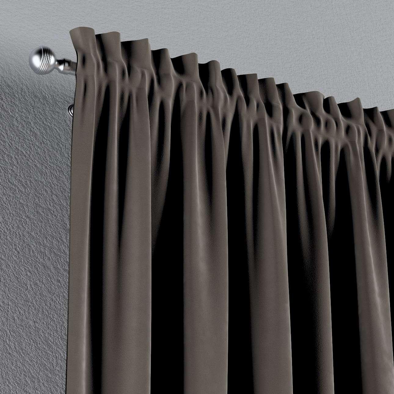 Vorhang mit Tunnel und Köpfchen von der Kollektion Velvet, Stoff: 704-19