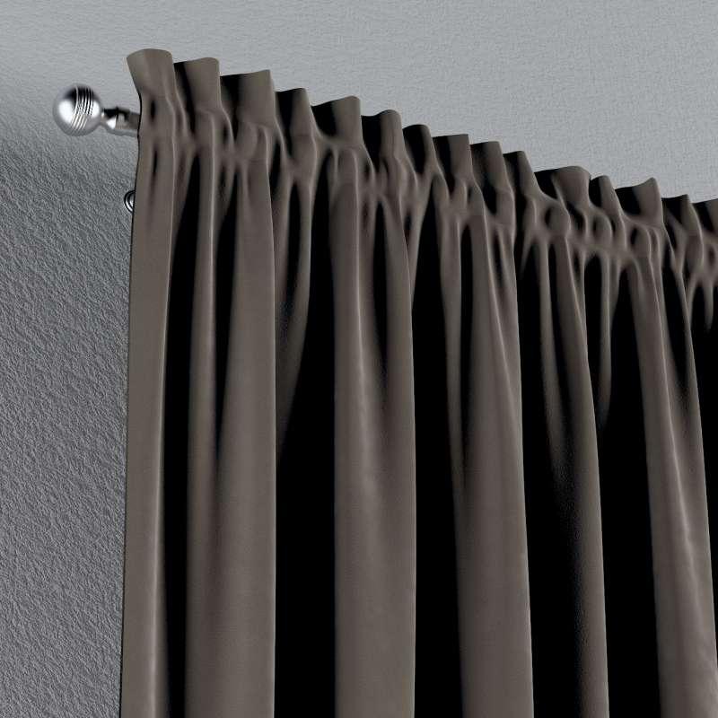 Zasłona na kanale z grzywką 1 szt. w kolekcji Velvet, tkanina: 704-19