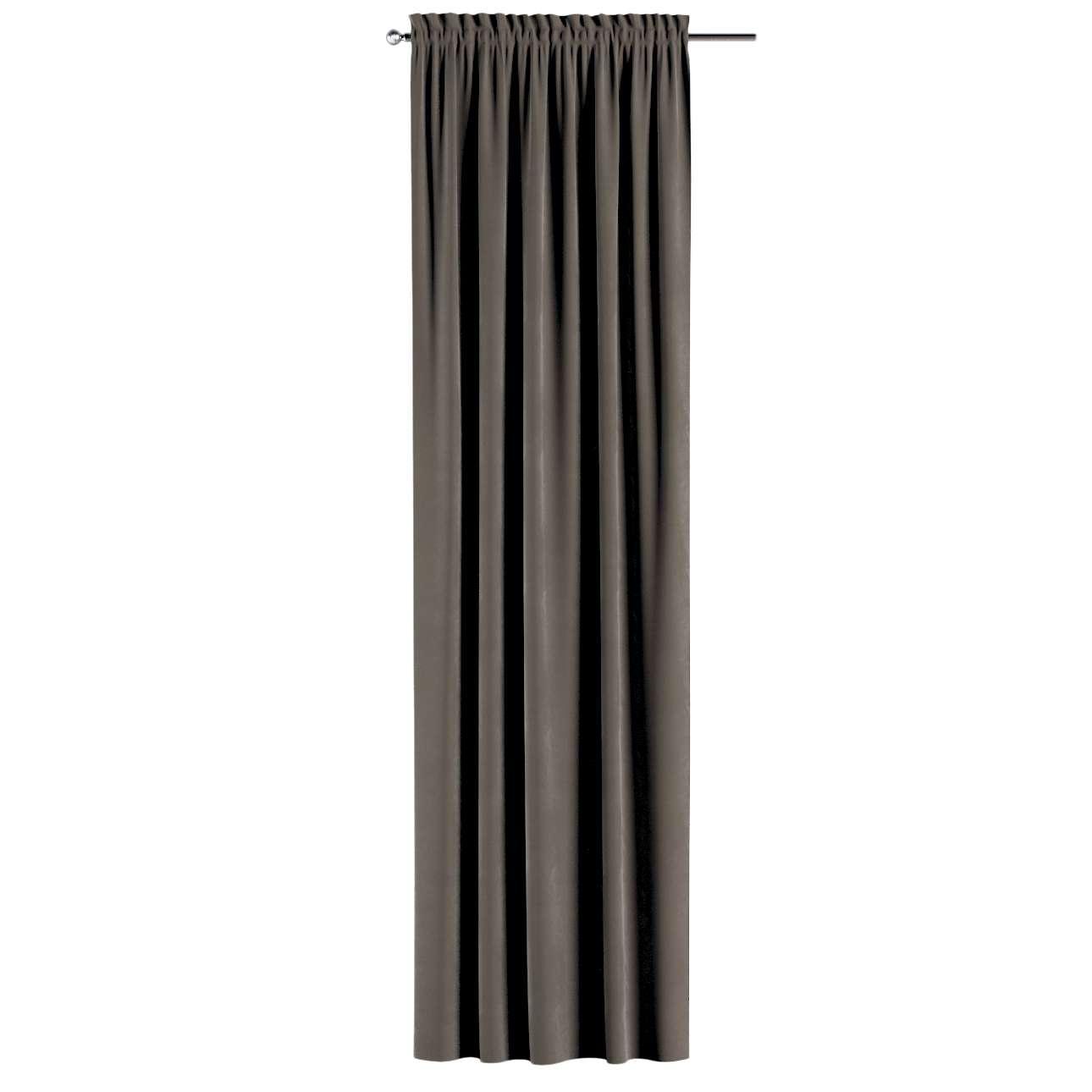 Gardin med løpegang - multibånd 1 stk. 130 × 260 cm fra kolleksjonen Velvet, Stoffets bredde: 704-19