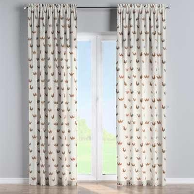 Vorhang mit Tunnel und Köpfchen von der Kollektion Flowers, Stoff: 141-80