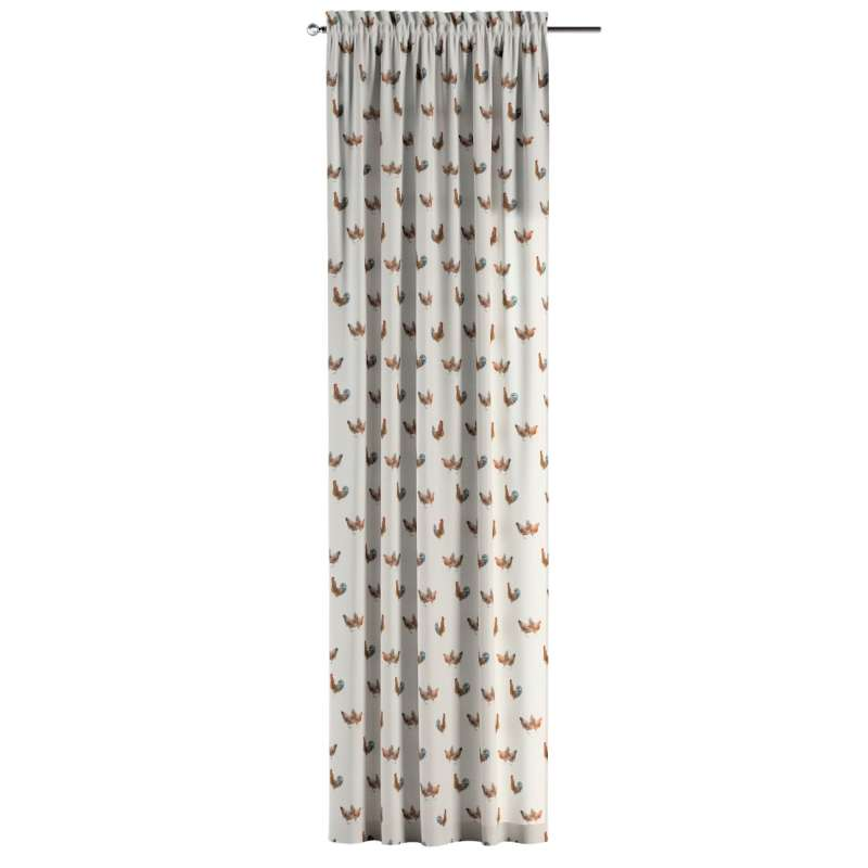 Gardin med løbegang - multibånd 1 stk. fra kollektionen Flowers, Stof: 141-80