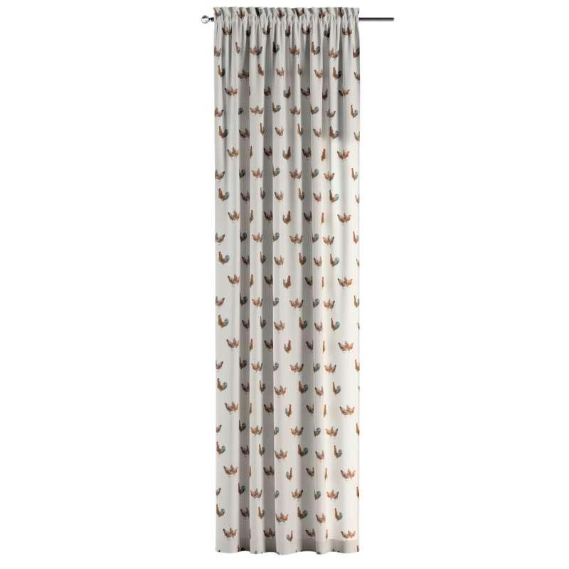 Záves s navliekacou riasiacou páskou V kolekcii Flowers, tkanina: 141-80