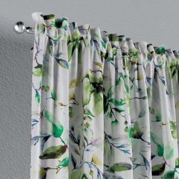 Zasłona na kanale z grzywką 1 szt. w kolekcji Velvet, tkanina: 704-20