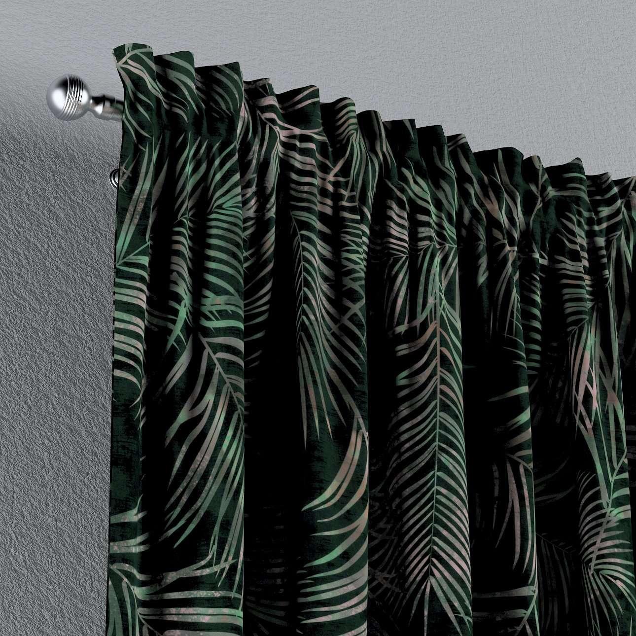 Zasłona na kanale z grzywką 1 szt. w kolekcji Velvet, tkanina: 704-21