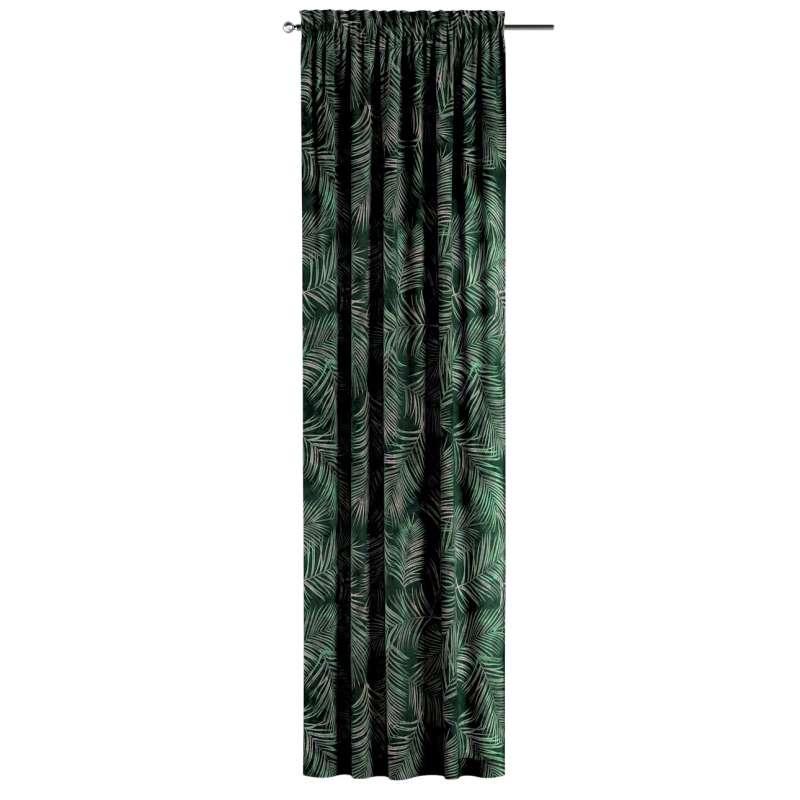 Záves s navliekacou riasiacou páskou V kolekcii Velvet, tkanina: 704-21