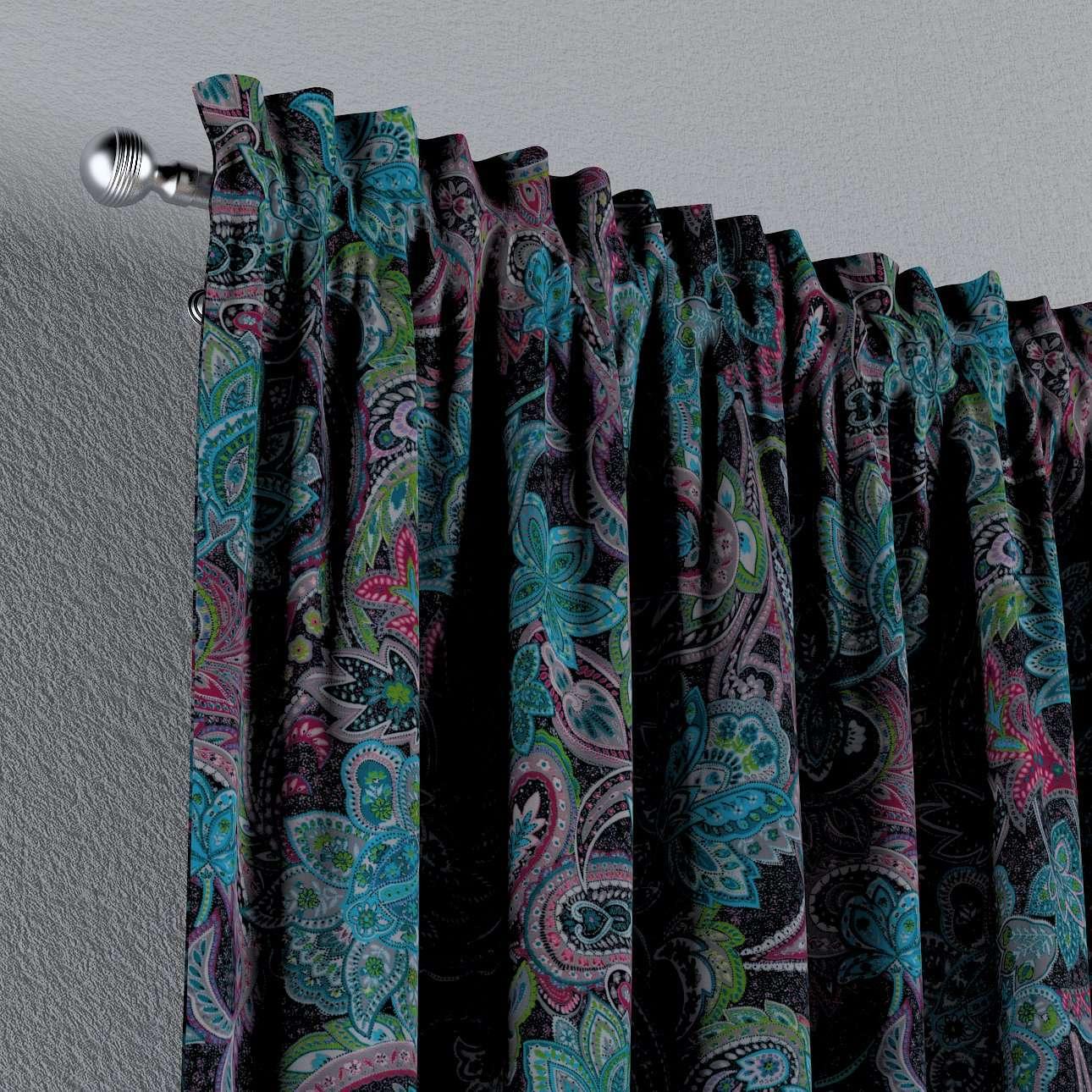 Vorhang mit Tunnel und Köpfchen von der Kollektion Velvet, Stoff: 704-22