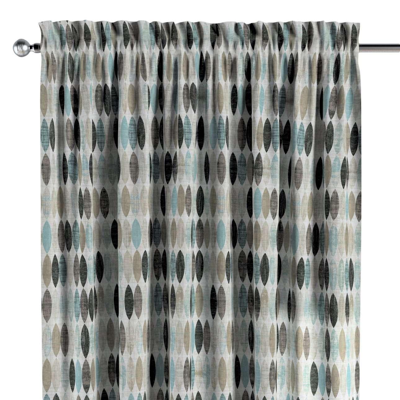 Vorhang mit Tunnel und Köpfchen von der Kollektion Modern, Stoff: 141-91