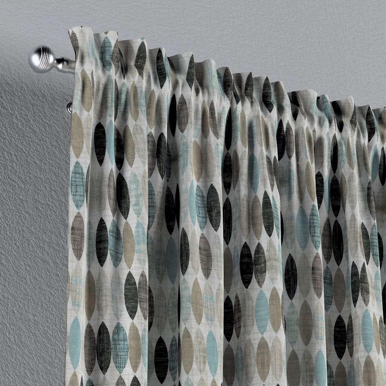 Zasłona na kanale z grzywką 1 szt. w kolekcji Modern, tkanina: 141-91