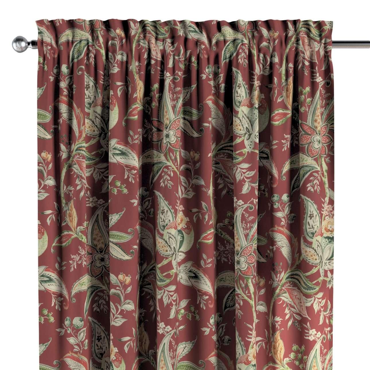 Vorhang mit Tunnel und Köpfchen von der Kollektion Gardenia, Stoff: 142-12
