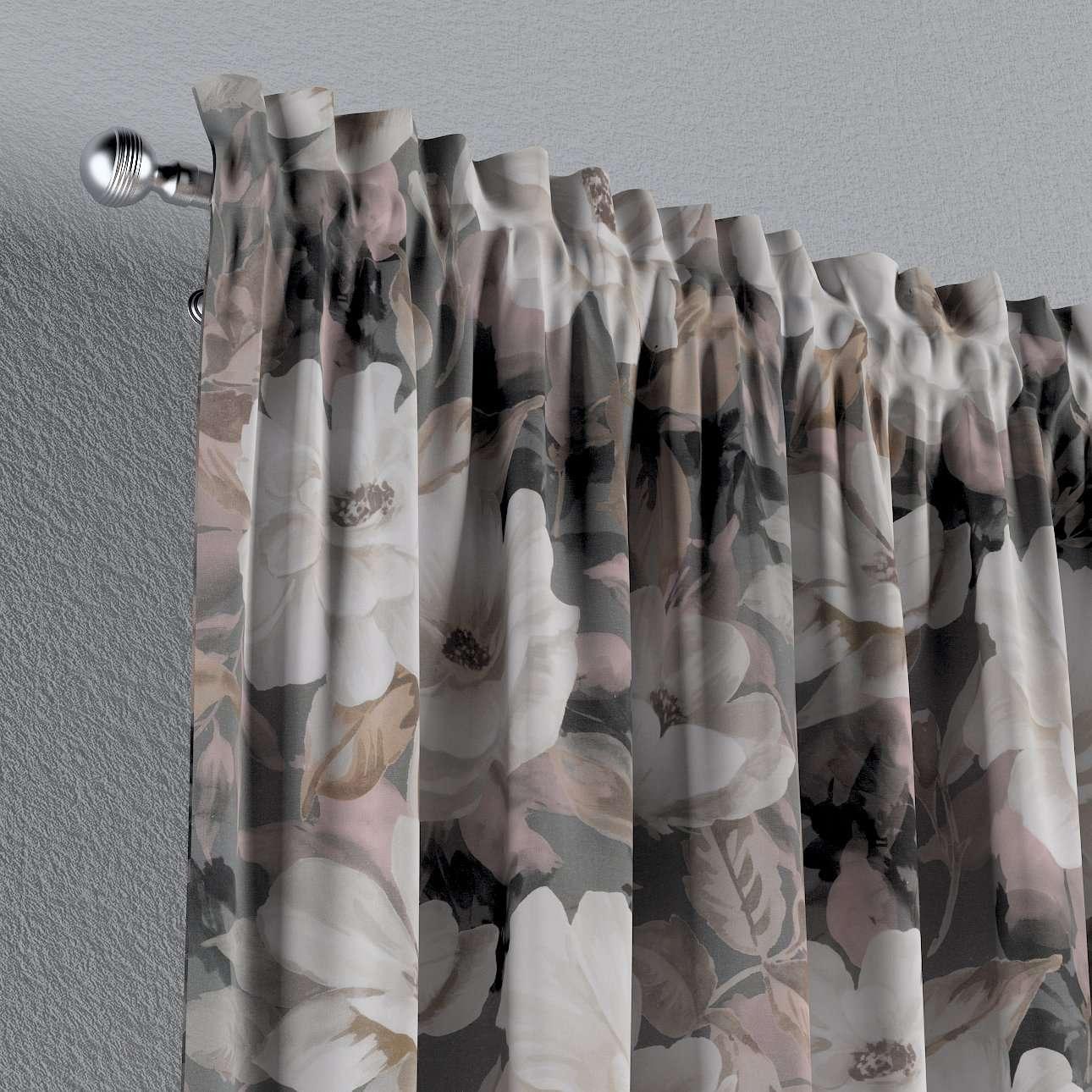 Vorhang mit Tunnel und Köpfchen von der Kollektion Gardenia, Stoff: 142-13