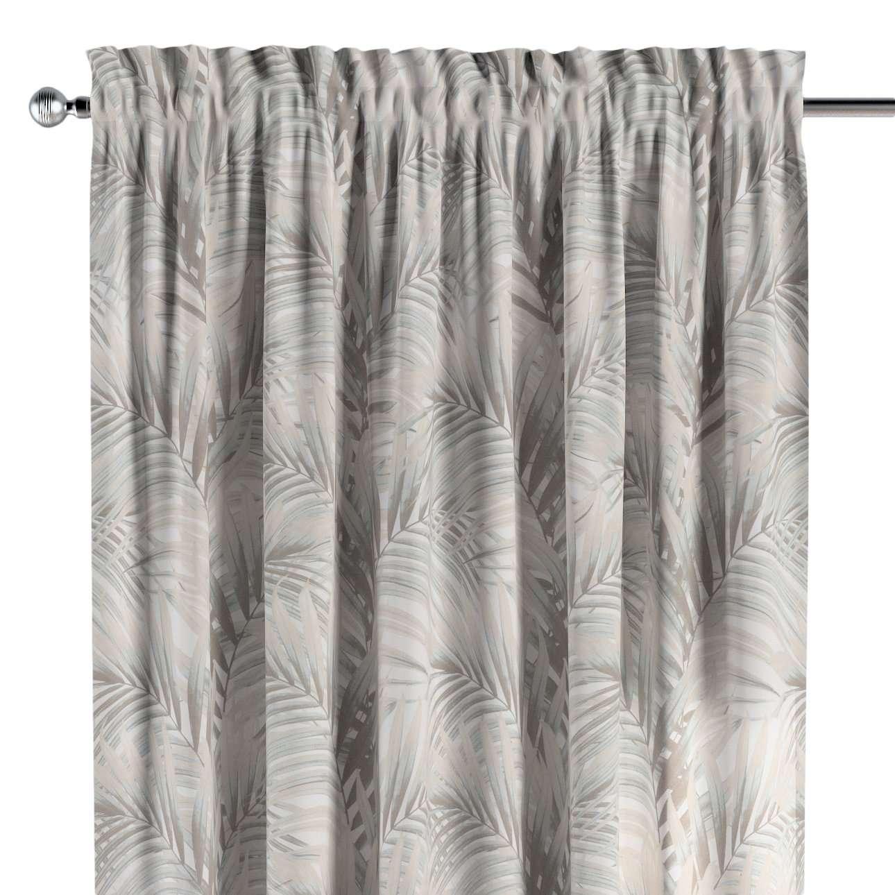 Zasłona na kanale z grzywką 1 szt. w kolekcji Gardenia, tkanina: 142-14