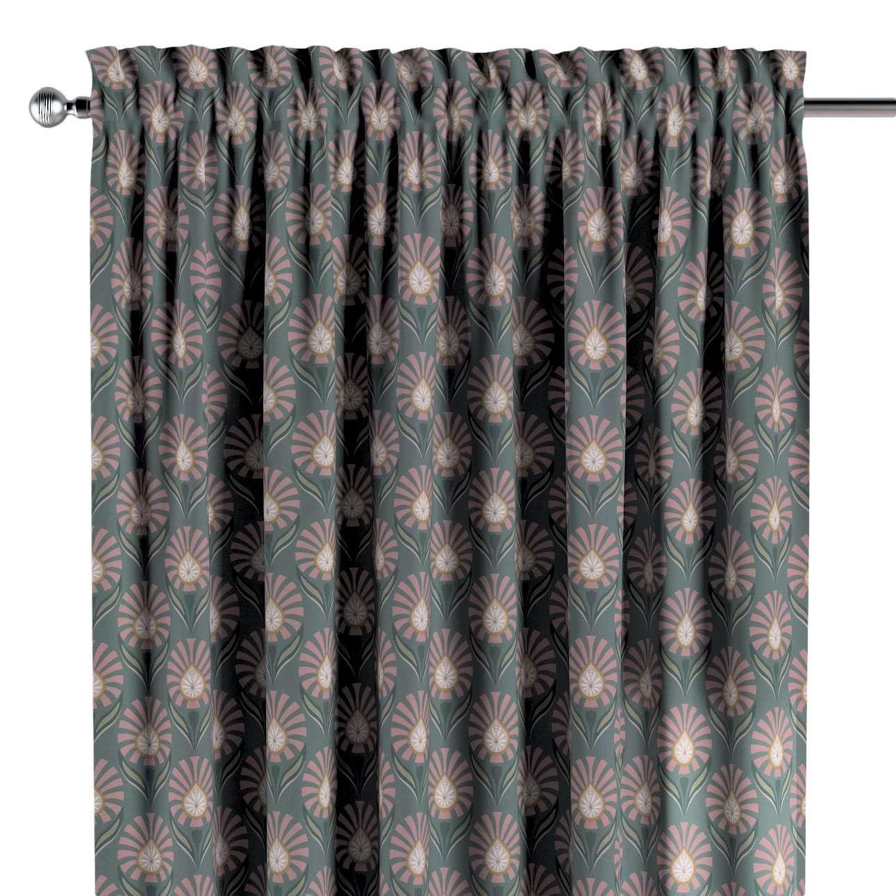 Vorhang mit Tunnel und Köpfchen von der Kollektion Gardenia, Stoff: 142-17