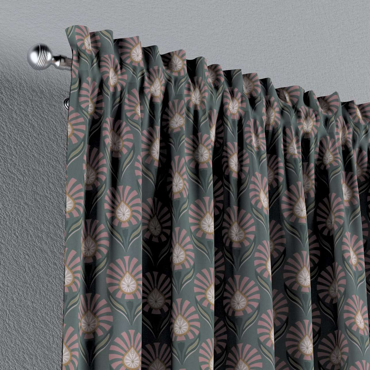 Gardin med kanal - Multiband 1 längd i kollektionen Gardenia, Tyg: 142-17