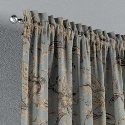 Gardin med kanal och rynkband för fingerkrokar - 1 längd i kollektionen Gardenia, Tyg: 142-18