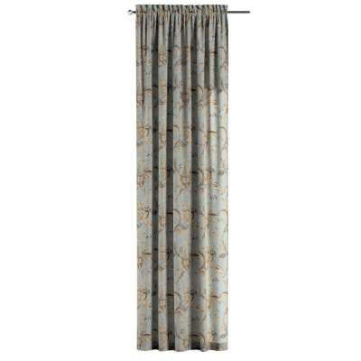Zasłona na kanale z grzywką 1 szt. w kolekcji Gardenia, tkanina: 142-18