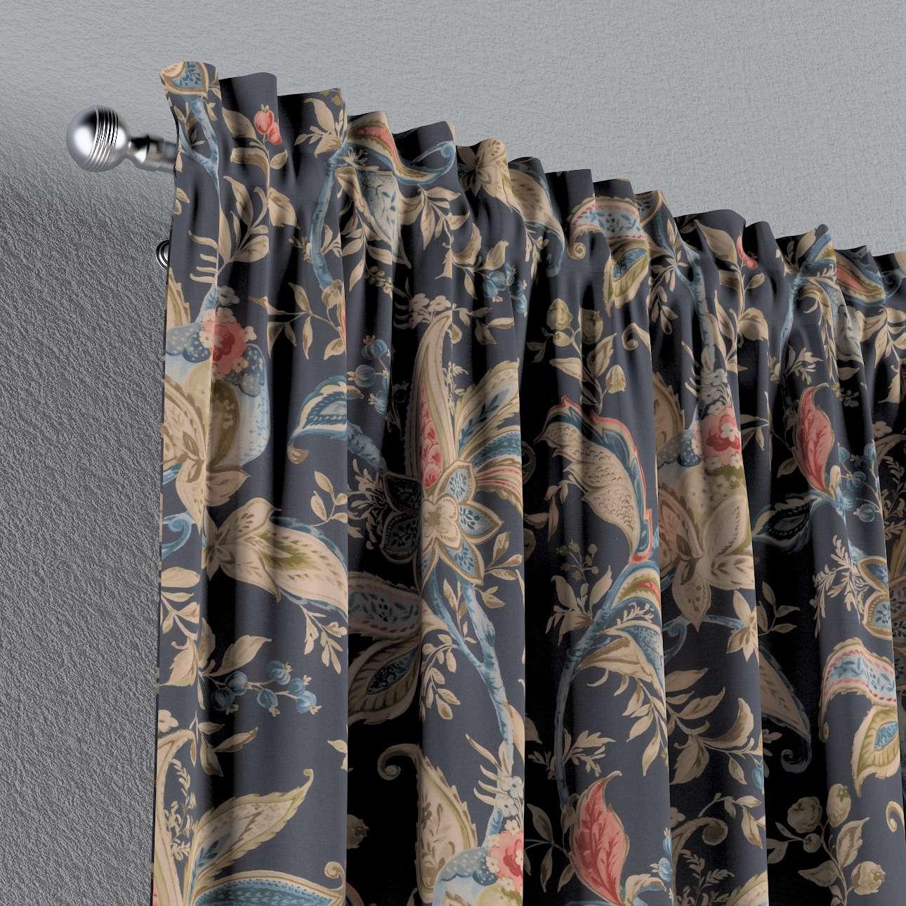 Zasłona na kanale z grzywką 1 szt. w kolekcji Gardenia, tkanina: 142-19