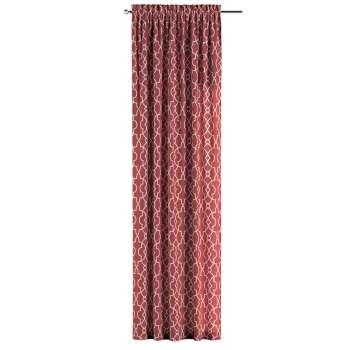Zasłona na kanale z grzywką 1 szt. w kolekcji Gardenia, tkanina: 142-21