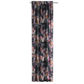 Vorhang mit Tunnel und Köpfchen von der Kollektion Gardenia, Stoff: 161-02