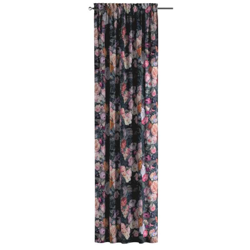Zasłona na kanale z grzywką 1 szt. w kolekcji Gardenia, tkanina: 161-02
