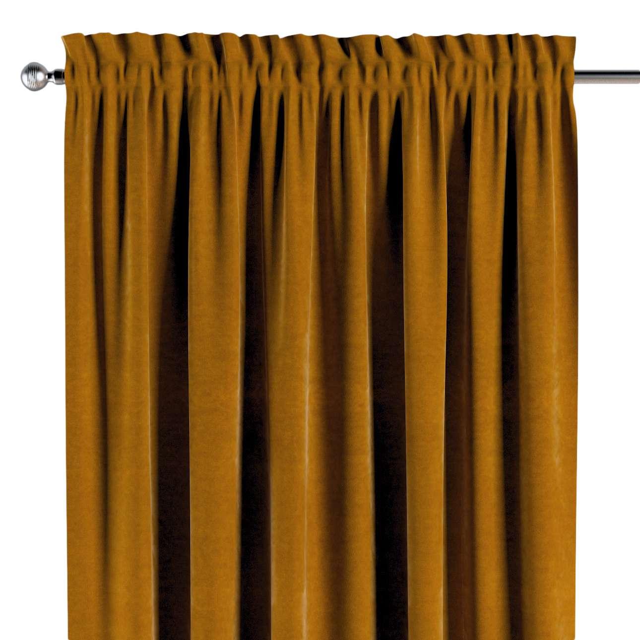 Záves s navliekacou riasiacou páskou V kolekcii Velvet, tkanina: 704-23