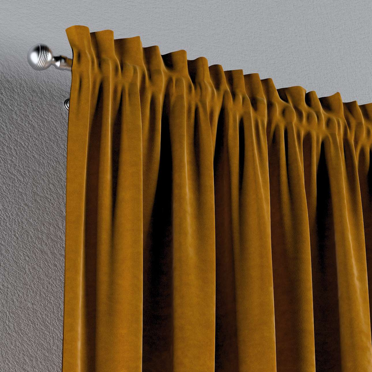 Gardin med kanal - Multiband 1 längd i kollektionen Velvet, Tyg: 704-23